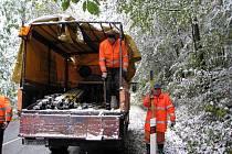 Na letošní zimu jsou připraveny stovky tun posypového materiálu