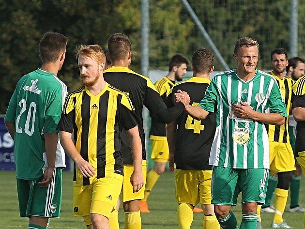 TJ Sokol Hostouň - FK Olympie Březová 1:3 (1:0), divize B, 26. 8. 2018