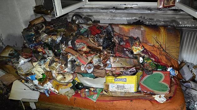 Kladno, 8. února krátce před dvacátou hodinou požár bytu rozdělovského věžáku č. p. 2955. 12. patro. Nájemnice utrpěla popáleniny. Kočka v bytě uhořela.
