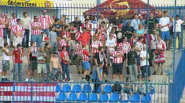 Na zápas dorazilo několik desítek fanoušků Viktorie Žižkov.