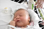 ELIŠKA ŠEBKOVÁ, STOCHOV. Narodila se 8. prosince 2017. Po porodu vážila 3,85 kg a měřila 52 cm. Rodiče jsou Lucie Hnízdová a Vláďa Šebek. (porodnice Kladno)