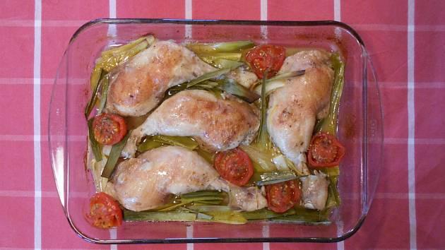 Středomořská bašta aneb citronové kuře s česnekem.