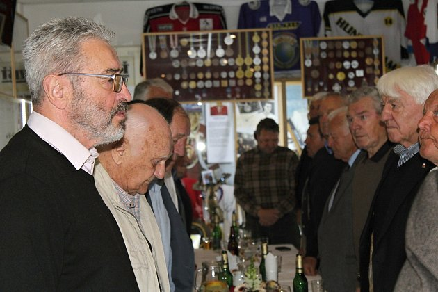 Josef Hošek otevřel vLánech nové prostory ve své Hokejové síni slávy.