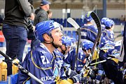 Hokejové Kladno slaví vítězství nad Vsetínem. Petra Vampola ve Vsetíně hrával