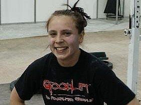 Pavla Kladivová měla v hale v Sofii dobrou náladu.