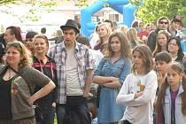 Studentský hudební festival Majáles v Kladně.