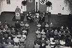 Nový nacistický řád v praxi. Koncert vážné hudby spojený s propagací říšského světonázoru v budově ředitelství Poldi.