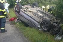 Nehoda Peugeotu u Brandýsku