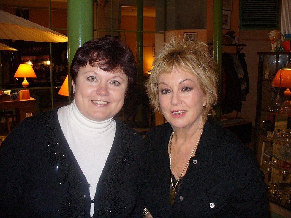 Alena Podolská s francouzskou herečkou Mylène Demongeot.