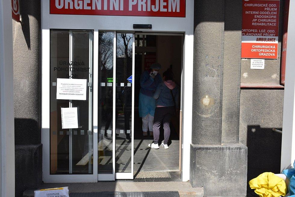 Nemocnice Slaný v době koronaviru.