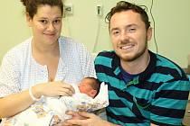 Prvním miminkem Středočeského kraje je chlapeček Šimon rodičů Barbory Fouskové a Jakuba Poláčka. Narodil se ve slánské porodnici.