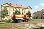 Masarykovo náměstí ve Slaném nově rozkvetlo.