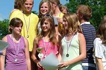 ÚSPĚCH, jakého dosáhly žákyně 5. ZŠ v Kladně Rozdělově, se na atletickém Poháru Rozhlasu už dlouho žádné kladenské škole nepovedl.