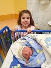 ADAM HORÁK, SLANÝ. Narodil se 8. dubna 2018. Po porodu vážil 3,42 kg a měřil 50 cm. Rodiče jsou Žaneta a Jozef Horákovi, sestřička Anetka. (porodnice Slaný)