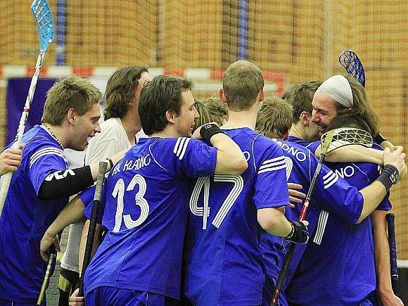 FBC Kladno - Bohemians Praha 9:6, florbalová 1. liga, poslední finále (serie 3:1), 4.4.2010