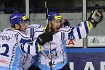 Jiří Bicek a Drtina //   HC Vagnerplast Kladno - HC Škoda Mladá Boleslav 2:1, O2  ELH 2010/11, hráno 3.12.2010