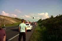 Nehoda se stala na kominikaci I/7 ve směru na Prahu