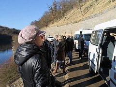 Slavnostní předání zabezpečených břehů Klíčavy za 60 milionů korun vloni v  prosinci.