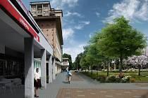 Vizualizace nové podoby náměstí J. Masaryka v Kladně-Rozdělově.