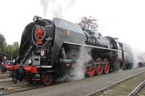 Kladnem projela parní lokomotiva Šlechtična.