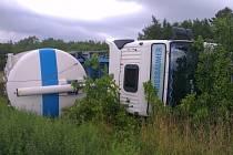 Nehoda cisterny u Slaného-Kvíce