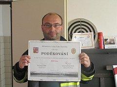Sbor dobrovolných hasičů Pchery se může chlubit poděkováním od minstra vnitra