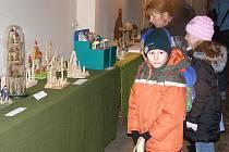 Na betlémy se přišly podívat hlavně děti.
