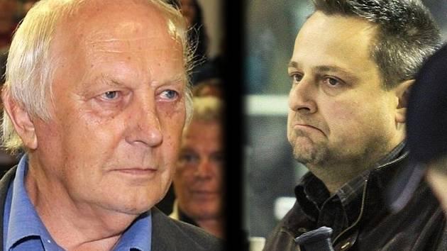 Jaromír Jágr starší (vlevo) a Milan Volf. Sešli se a schůzka byla tentokrát pozitivní.