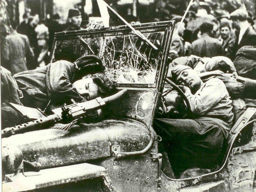 Odpočinek vojáků Rudé armády