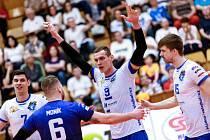 Volejbalisté Kladna porazili v pátém zápase čtvrtfinále Brno a postoupili.