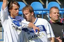 Dominik Šíma a David Frič // SK Kladno - FK Slavoj Žatec 3:2, divize B, 14. 9. 2013