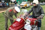 Legendární jízda historických vozidel přilákala opět po roce do Slaného desítky účastníků. První okruh se jel už před pětašedesáti lety.