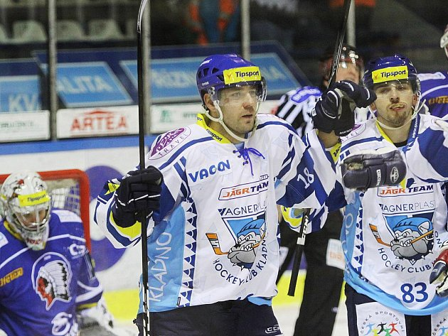 Jaroslav Kalla, střelec první branky Kladna //HC Vagnerplast Kladno - HC Plzeň 2:3, O2  ELH 2010/11, hráno 29.12.2010
