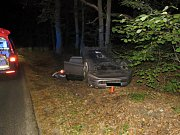 Děsivá nehoda u Bratronic si naštěstí zranění nevyžádala.