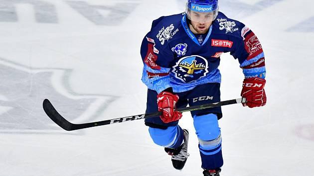 Tomáš Šmerha při svém extraligovém debutu v dresu Kladna.