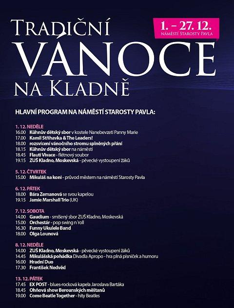 Plakát Vánoc vKladně.