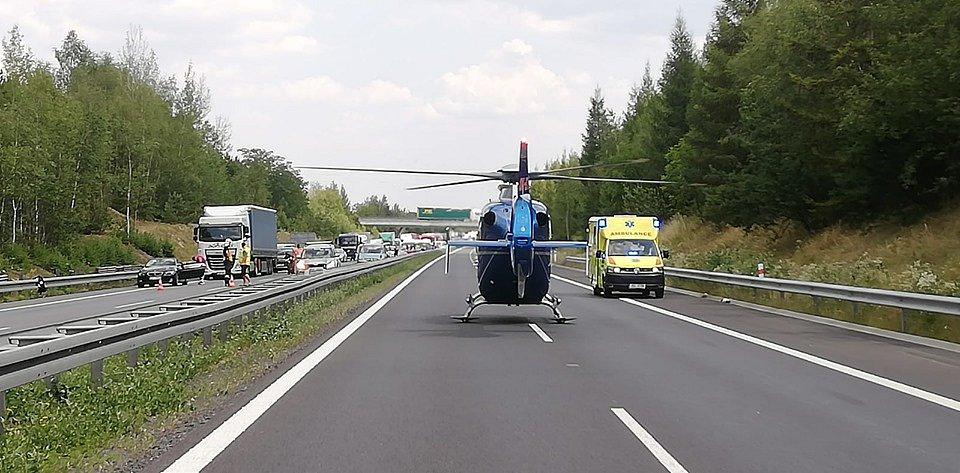 Hromadná nehoda na D6.