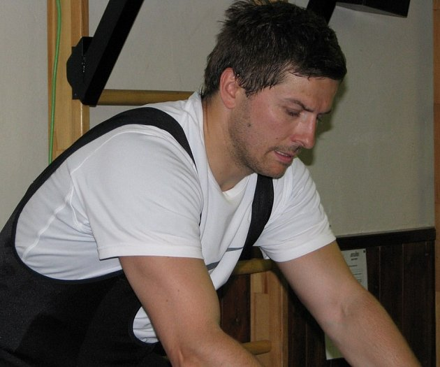 Jan Srdínko ještě v kladenské kabině.