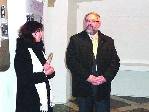 Zlatica Zudová Lešková a ředitel Muzea SNP Stanislav Mičev