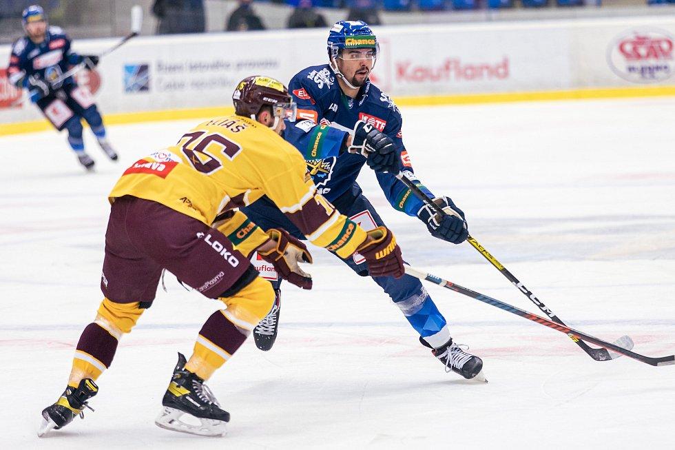 Šlágr hokejové Chance ligy Kladno - Jihlava okořenil návrat Jaromíra Jágra na led. Marek Račuk