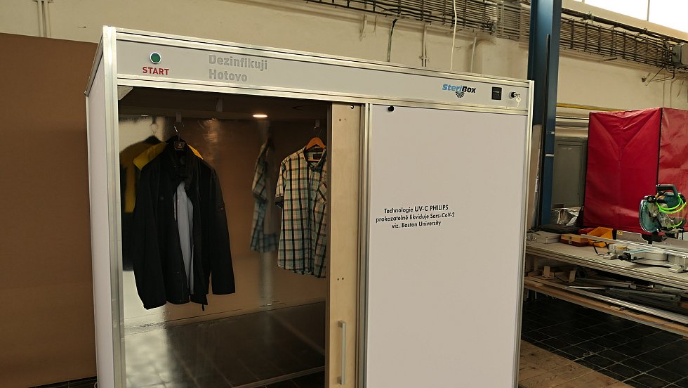 Instalace SteriBoxu v kladenské prodejně Takko.