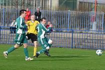 Fotbalový zápas ve Slaném. SK Slaný X Sokol Hostouň. Výhra pro domácí 2:0