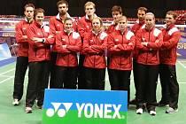 Reprezentační tým badmintonistů.