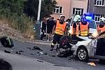 Dopravní nehoda v ulici Leoše Janáčka v Kladně.