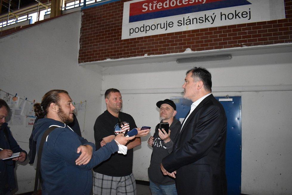 Zimní stadion ve Slaném, kontrolní den, červenec 2021.