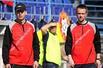 Martin Čurda a Miroslav Chadima //  SK Kladno -1. FC Karlovy Vary  3:0 (1:0) , utkání 19.k. ČFL  2011/12, hráno 17.3.2012