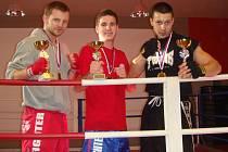Zleva zlatí hoši: Jan Homolka, Tomáš Möstl a Robin Červenka.