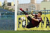Hrdina penaltového rozstřelu, brankář SK Slaný Michal Sedlák.