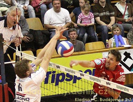 Kladno volleyball.cz - VK Jihostroj Č. Budějovice  2:3, 1. finále