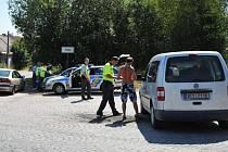 Policejní kontrola vozidel. Ilustrační foto
